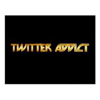 Twitter Addict Postcard