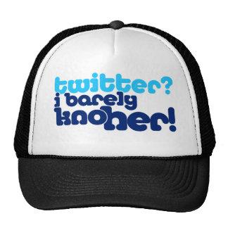 twitter barely knoer 2O colors blk hat