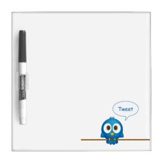 Twitter bird dry erase board