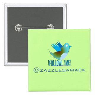 Twitter Bird Follow Me- Choose Background Color Buttons
