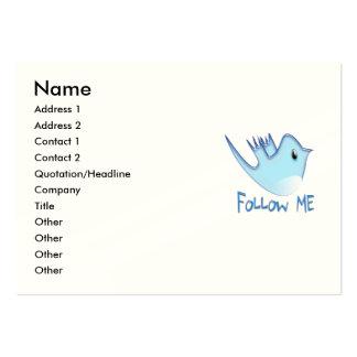 Twitter Bird Follow Me Large Business Card