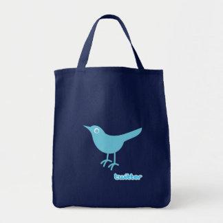 Twitter Bird Grocery Tote Bag