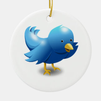 Twitter bird logo ceramic ornament