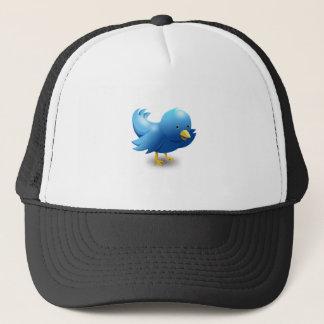 Twitter bird logo trucker hat