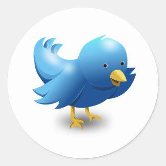 Twitter BIRD logotipo Pegatina Redonda