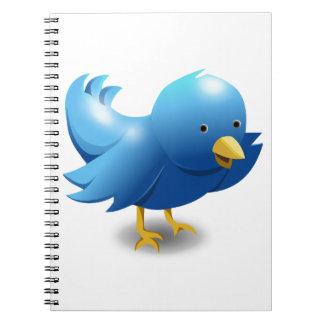 Twitter BIRD logotipo Spiral Notebooks