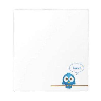 Twitter bird notepad