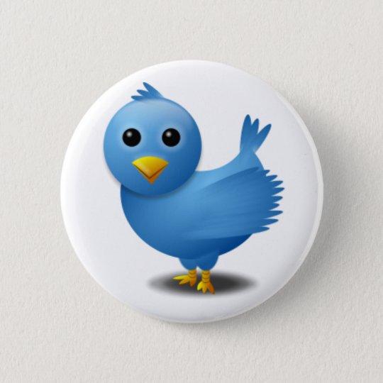 Twitter bird pinback button