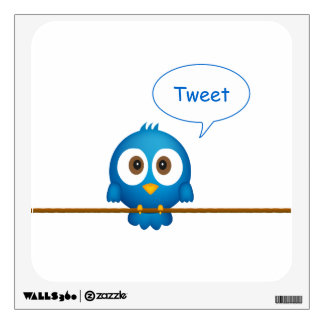 Twitter bird wall decal