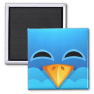 Twitter blue bird face magnet