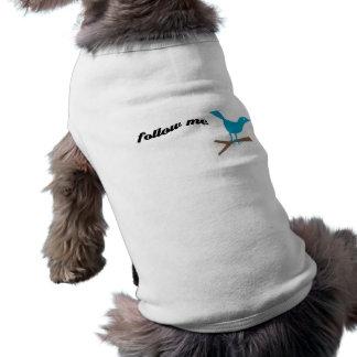 Twitter Blue Bird Follow Me Dog Shirt