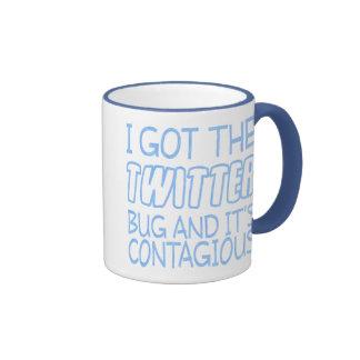 Twitter Bug Ringer Coffee Mug