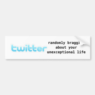 twitter car bumper sticker