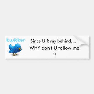 Twitter Car Bumper Sticker