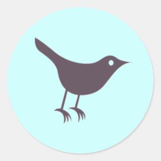 Twitter Classic Round Sticker