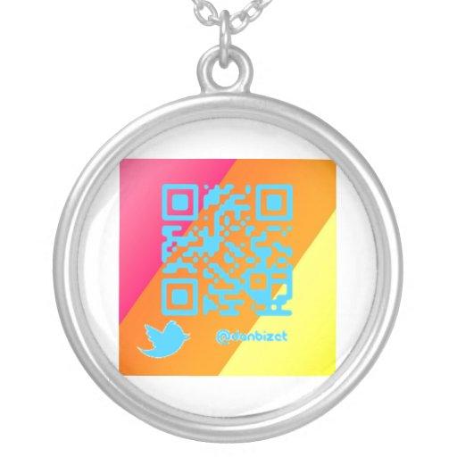Twitter DanBizet QR Code Necklace