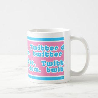 Twitter Dee Twitter Dum Mug  (pink bgrnd)