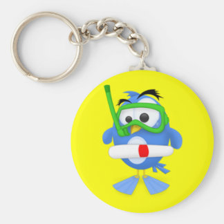 Twitter Diver Key Chains