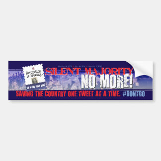 Twitter #dontgo Bumper Sticker Car Bumper Sticker