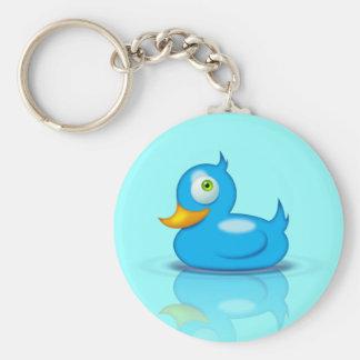 Twitter Duck Basic Round Button Keychain