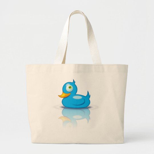 Twitter Duck Large Tote Bag