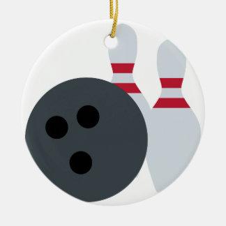 Twitter Emoji - Bowling fans Adorno Navideño Redondo De Cerámica