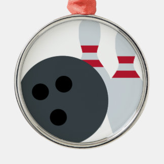 Twitter Emoji - Bowling fans Adorno Navideño Redondo De Metal