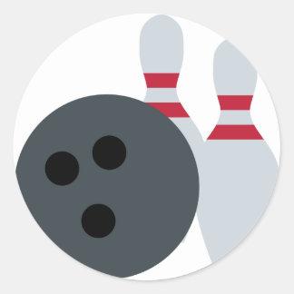 Twitter Emoji - Bowling fans Pegatina Redonda