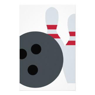 Twitter Emoji - Bowling fans Stationery