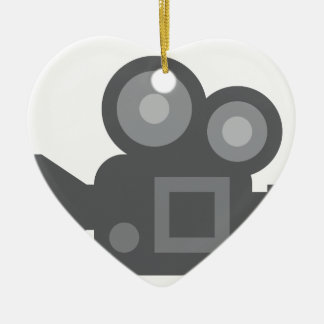 Twitter Emoji - Camera film making Ceramic Ornament