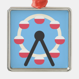 Twitter Emoji - Ferris Wheel Adorno Navideño Cuadrado De Metal