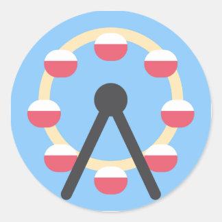 Twitter Emoji - Ferris Wheel Classic Round Sticker