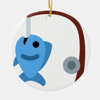 Twitter emoji - Fishing Adorno Navideño Redondo De Cerámica