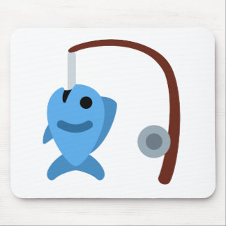 Twitter emoji - Fishing Mouse Pad