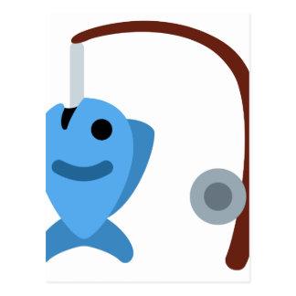 Twitter emoji - Fishing Tarjeta Postal