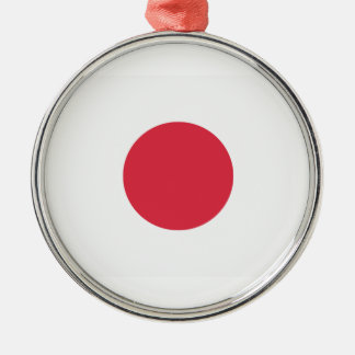 Twitter Emoji - Japan Flag Adorno Navideño Redondo De Metal
