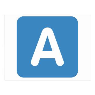 Twitter Emoji - Letter A Tarjetas Postales
