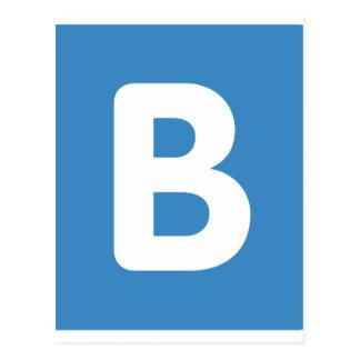 Twitter emoji - Letter B Postal
