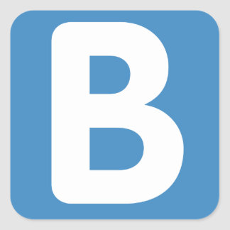 Twitter emoji - Letter B Square Sticker