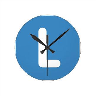 Twitter Emoji Letter J Round Clock