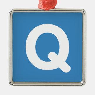 Twitter emoji letter Q Metal Ornament