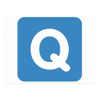 Twitter emoji letter Q Postal