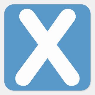 Twitter emoji - Letter X Square Sticker