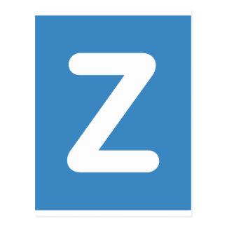 Twitter Emoji - Letter Z Postcard