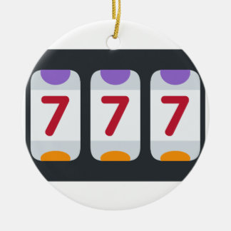 Twitter Emoji - Lucky 7 Double-Sided Ceramic Round Christmas Ornament