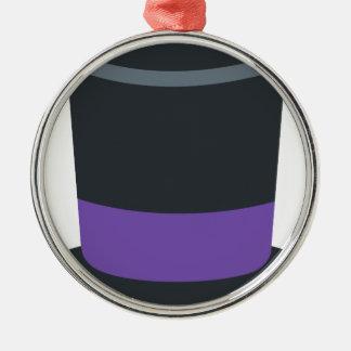 Twitter emoji - Magician hat Metal Ornament