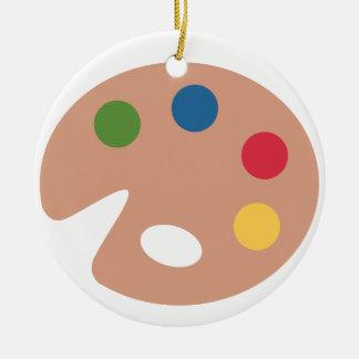 Twitter emoji - Palette Painting Adorno Navideño Redondo De Cerámica