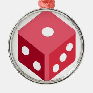 Twitter emoji - Red dice Adorno Navideño Redondo De Metal