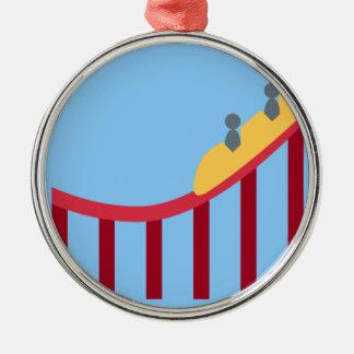 Twitter Emoji - Roller coaster Adorno Navideño Redondo De Metal