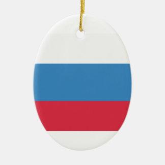 Twitter emoji - Russia Flag Adorno Navideño Ovalado De Cerámica